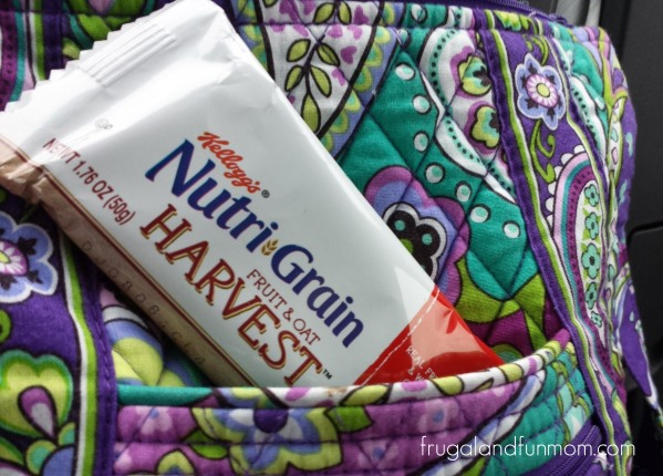 Nutri-Grain Fruit and Oat Harvest on the Go and in my purse.