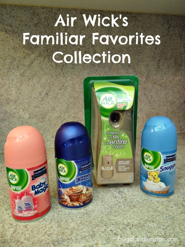 Air Wick's Familiar Favorites Collection Baby Magic, Cinnabon, and Snuggle