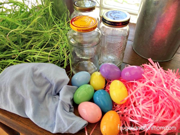 Easter DIY Mason Jar supplies