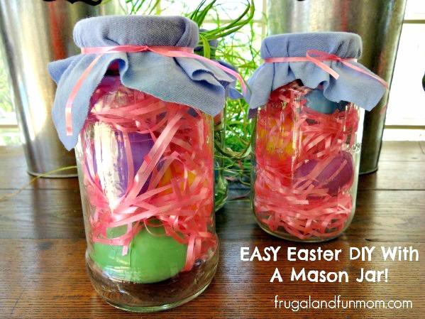 Easter Mason Jar Craft! Easy DIY Project!