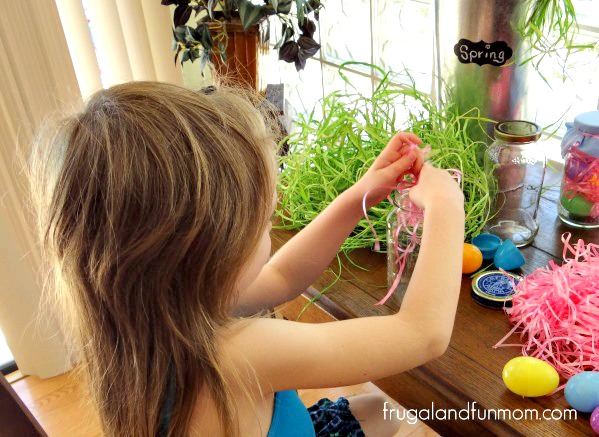 Making Easter DIY Mason Jar supplies