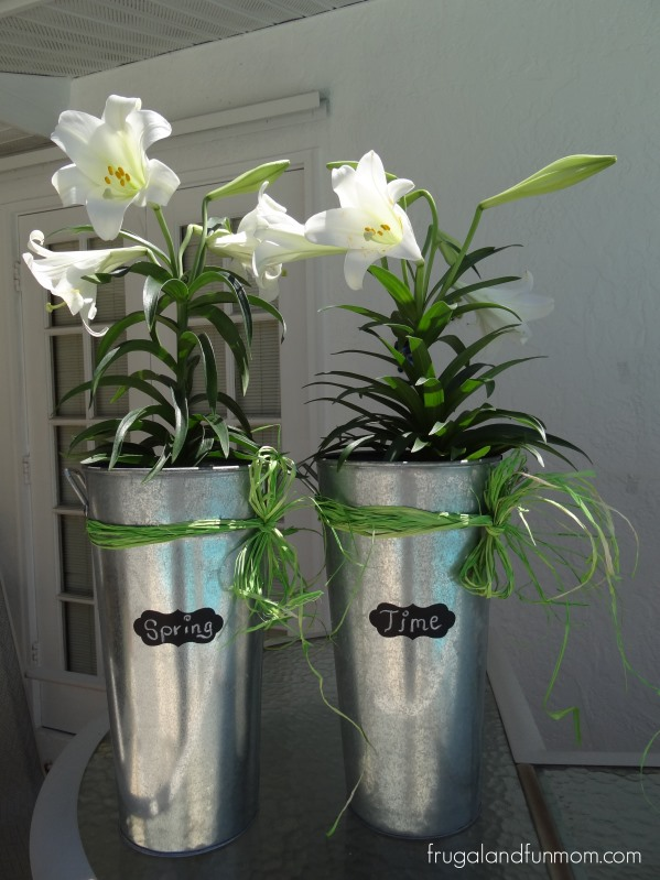 Transforming Garage Sale Galvanized Buckets Into Spring Decorations