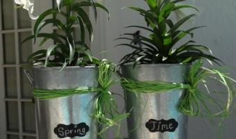 Turning Garage Sale Find Galvanized Buckets Into Spring Decorations! Flower Arrangement DIY Craft!