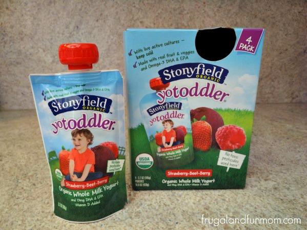 Stonyfield's YoToddler Organic Yogurt Individual Pouch