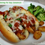 Italian Shrimp Po' Boy Sandwich! An Easy Recipe With Green Onions and Marinara!