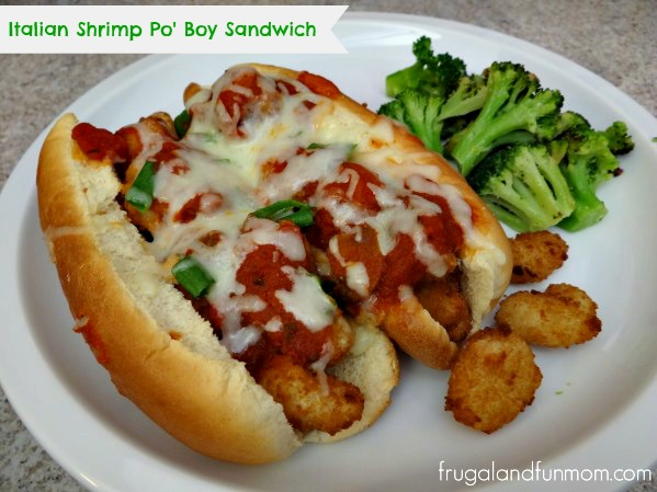 Italian Shrimp Po' Boy Sandwich! An Easy Recipe With Alternative Ingredients! Dish