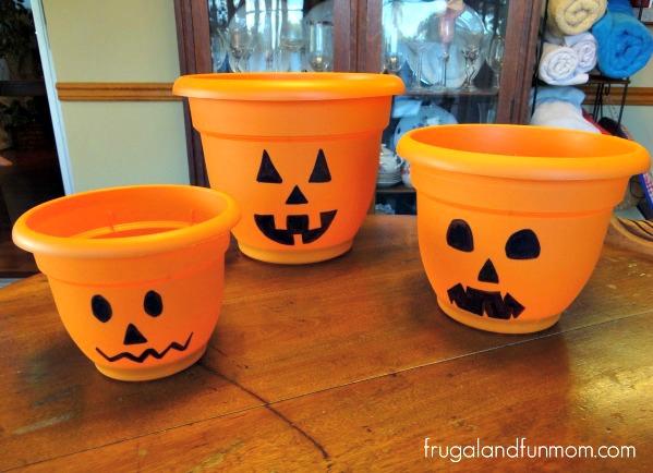 Jack O'Lantern Flower Pots 1