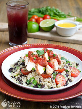 Salsa Chicken with Black Bean Quinoa Recipe! Plus #HealthyFamiliesHelpingKids #ProduceForKids