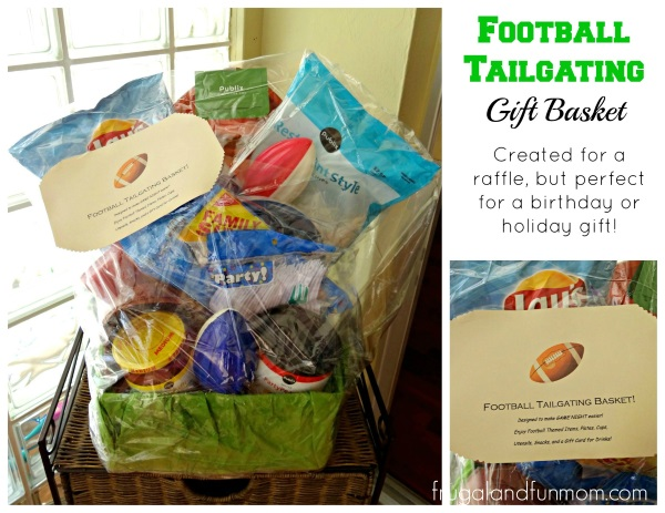 Football Tailgating Gift Basket for Present