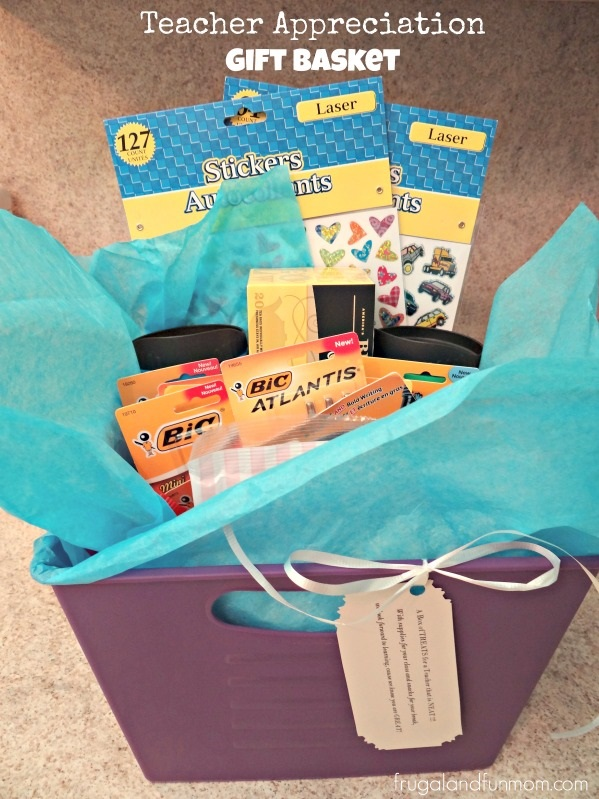 Teacher Appreciation Basket With Supplies