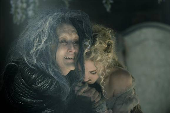 The Witch and Rapunzel in Disney Into The Woods