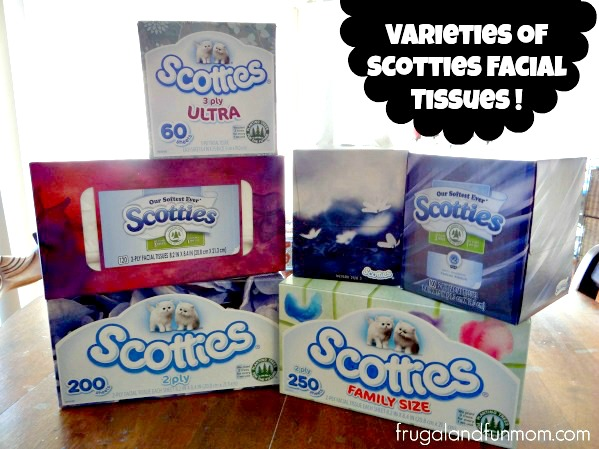 Scotties Facial Tissue Varieties and Styles