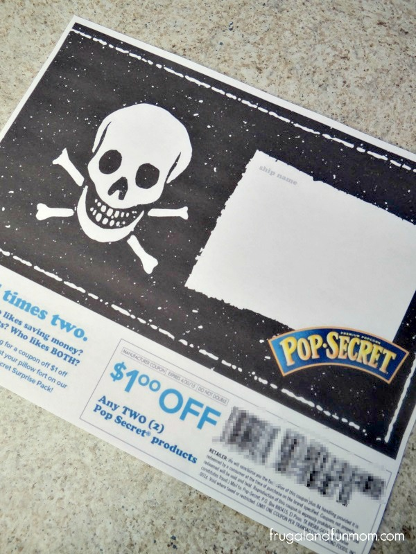 $1.00 off coupon for Pop Secret Popcorn and Pirate Ship Fort Flag