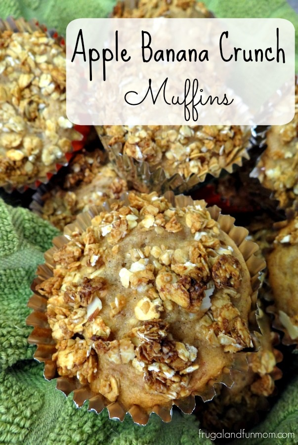 Apple Banana Crunch Muffins Recipe! #QuakerUp #LoveMyCereal #spon