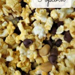Candy Bar Popcorn Mix