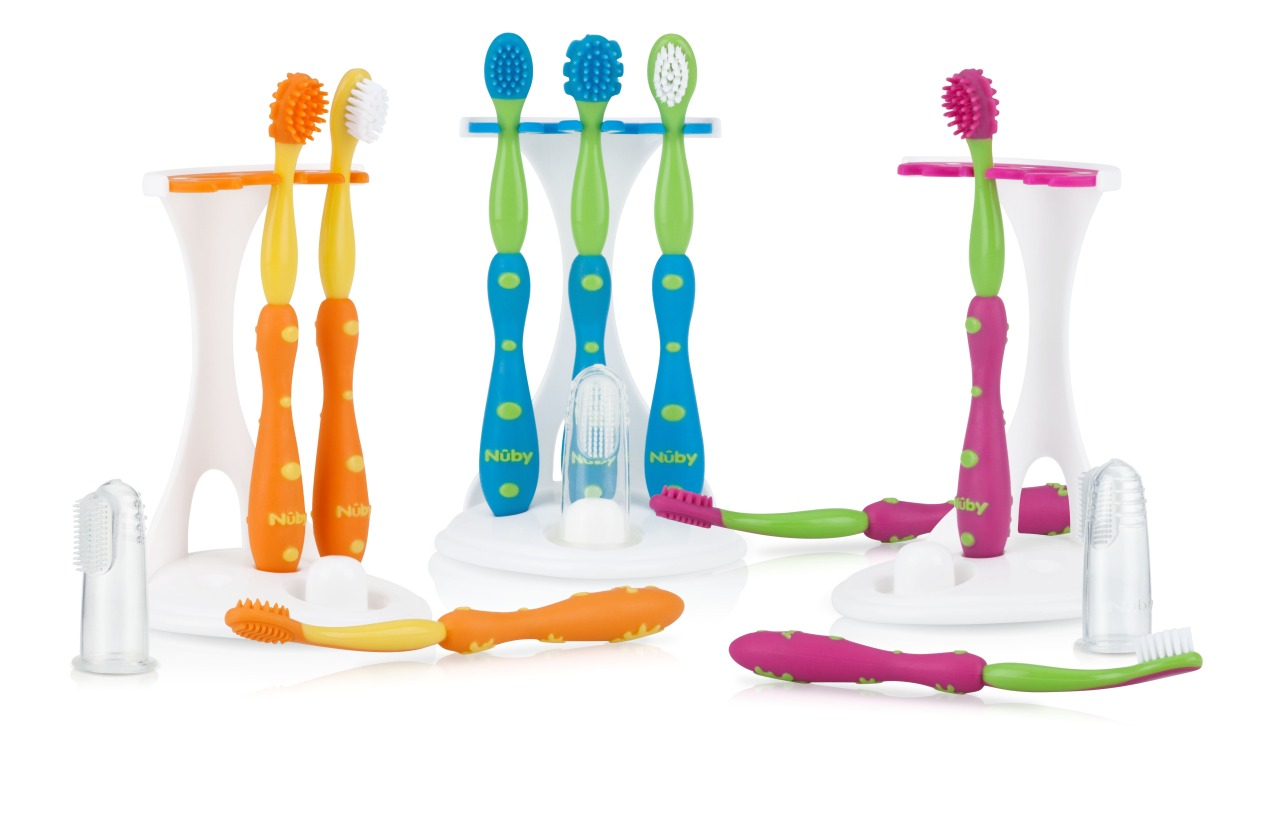 Colors of Oral Care Set Nuby Toothbrush