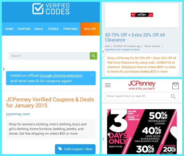 Verified Codes 50 off Deals for JCPenney