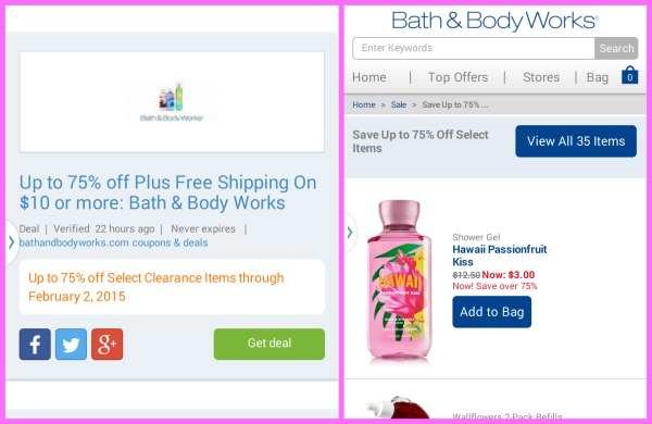 Verified Codes Bath and Body Works