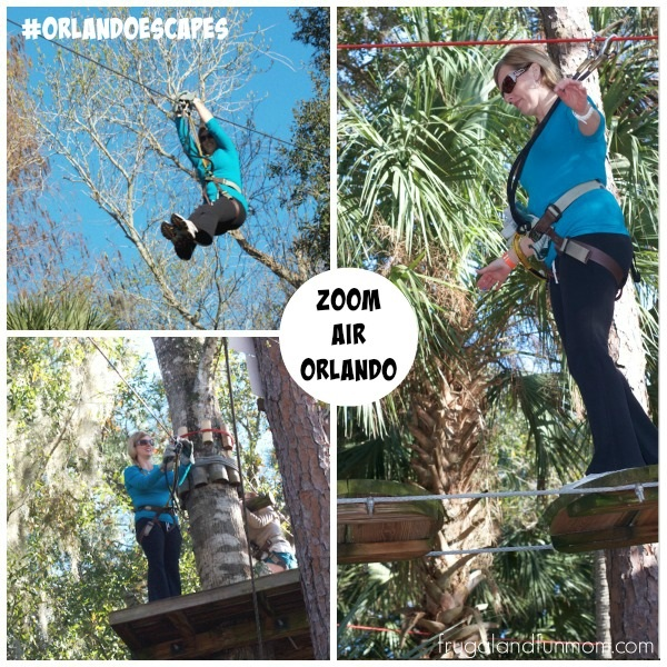 Zip Lining at Zoom Air