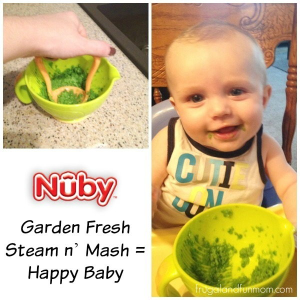 Nuby Garden fresh steam and mash bowl