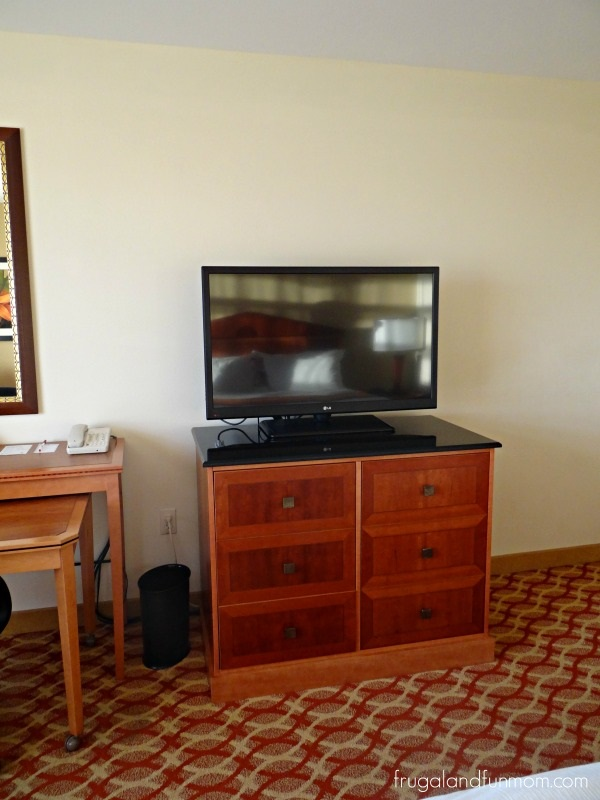 TV in room of  Orlando Marriott Lake Mary