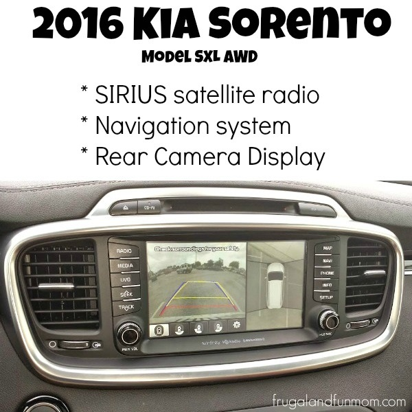2016 Kia Sorento Radio, Navigation, Rear and Side Camera