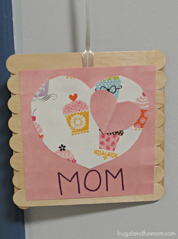 Mother's Day Craft Frame with Wooden Sticks