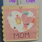Mother's Day Frame Craft Made With Popsicle Sticks and Card Stock!