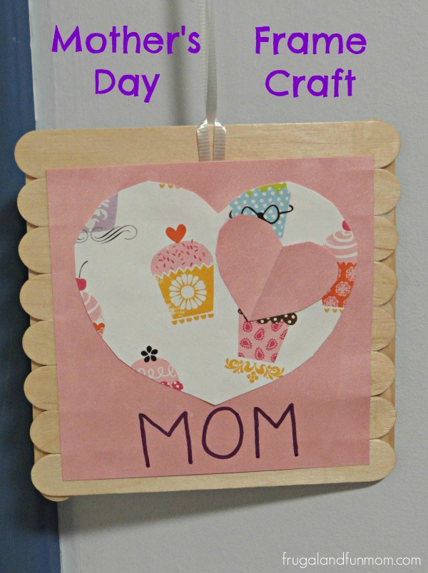 craft ideas for mothers day s day frame craft made with popsicle sticks and 6210