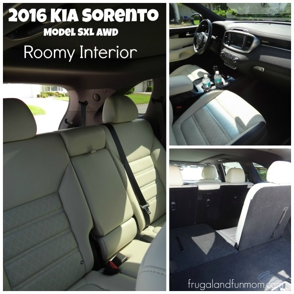Seating and truck space in Kia Sorento 2016
