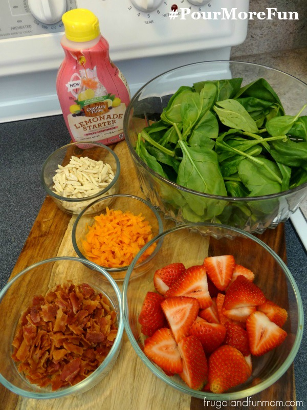 Strawberry Bacon Salad Ingredients