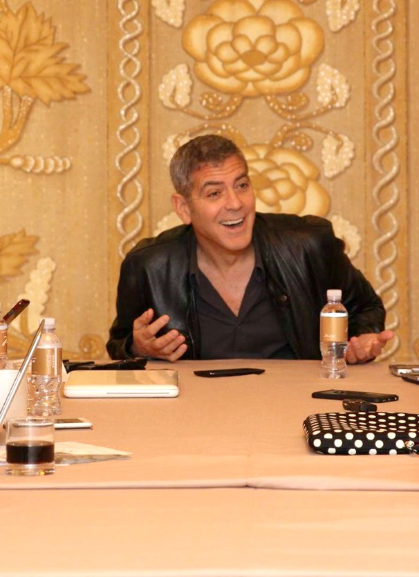 George Clooney Laughing and Joking in his interview