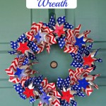 Pinwheel Wreath!  Easy Summer DIY Craft!
