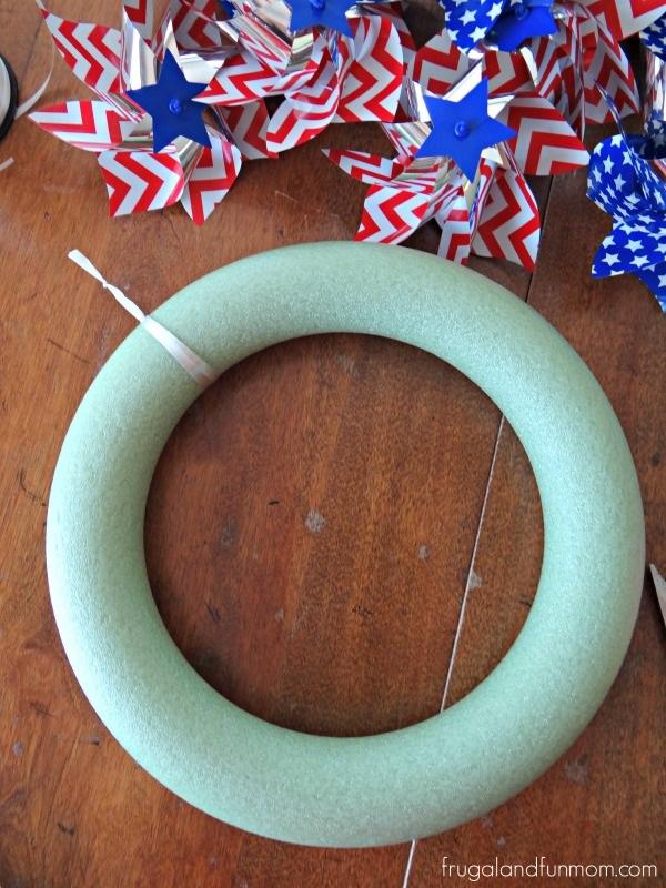 Wreath for Pinwheels