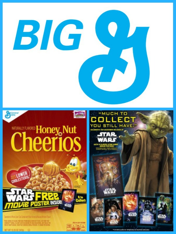 Big G General Mills Cereal With Star Wars Posters