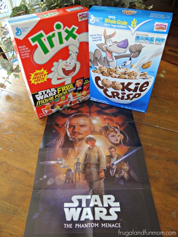 General Mills Ceral and a Star Wars Poster