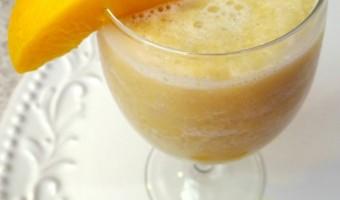 Peaches and Cream Slush Recipe and the Fairy Herb Garden Project!