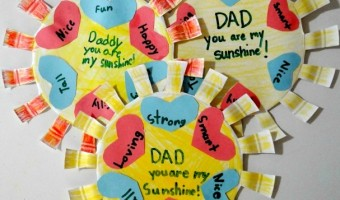 Dad -You Are My Sunshine Craft, A Father's Day Activity!