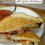 Italian Grilled Cheese With Garlic Mushrooms! Plus $25 Visa Gift Card Giveaway!