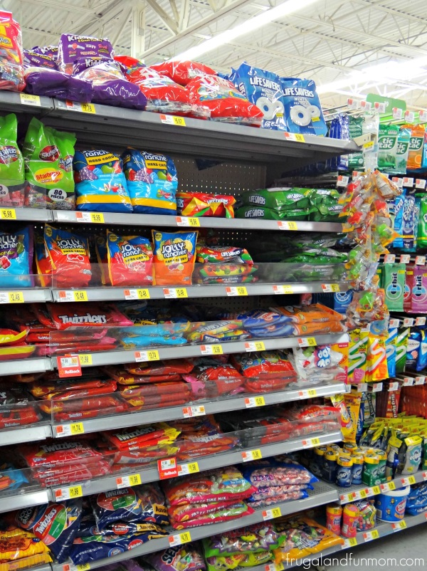 Twizzlers in candy section at Walmart