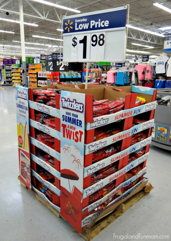 Twizzlers in store display at Walmart