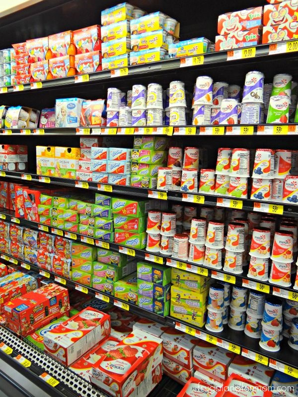 Yoplait products at Walmart