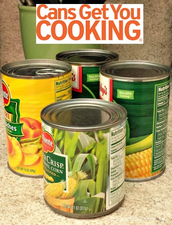 Cans get you cooking and here are vegetables