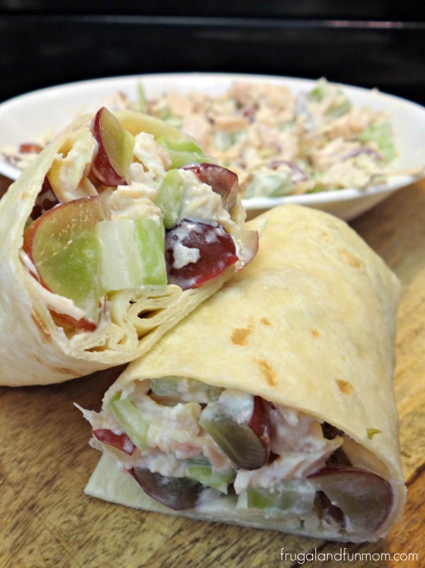 Chicken Salad Wraps With Grapes and Almonds