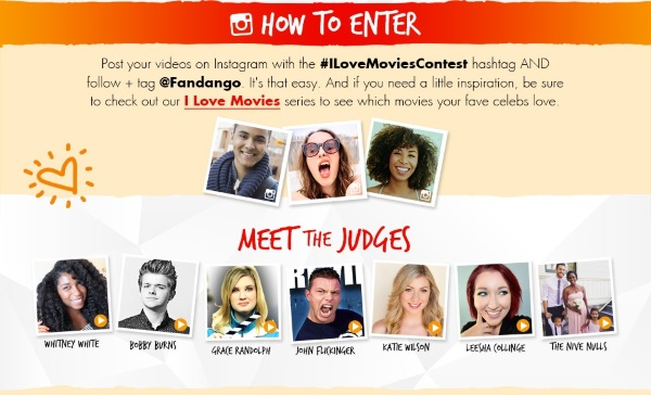 Fandango I Love Movies Too Contest How To Enter