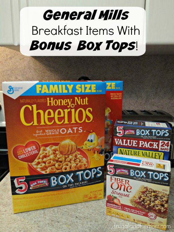 General Mills Breakfast Items with 5 Box Tops