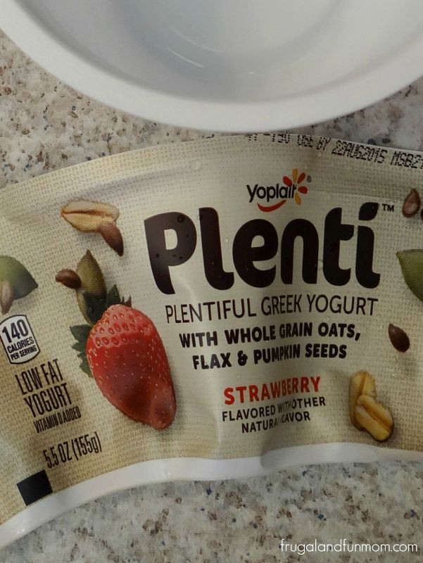 Plenti Yogurt from Yoplait Label