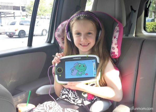 Playing with the LeapFrog LeapPad Platinum in the Car