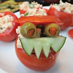Bacon Chicken Salad Stuffed Tomatoes! Plus Check Out The Tomato Monster!