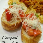 Campari Bruschetta! A Fresh and Easy Side or Appetizer Recipe!